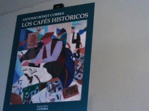 """Antonio Bonet Correa presentó su libro, """"los cafés históricos"""", en el Círculo de Bellas Artes en Madrid"""