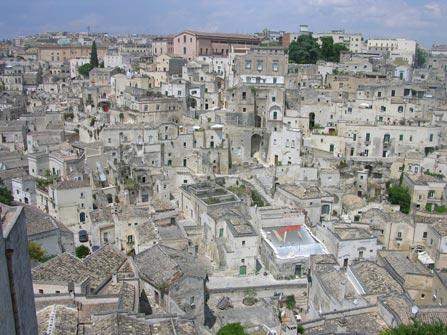 Centro de la ciudad de Matera