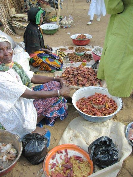 Mercado en una aldea