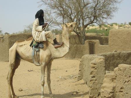 Tuareg en un oasis