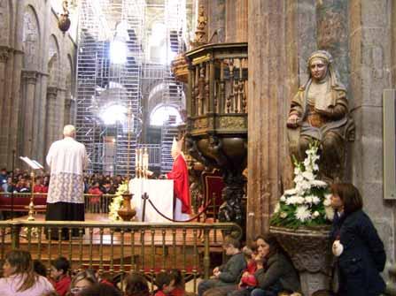 Peregrinos en la Catedral