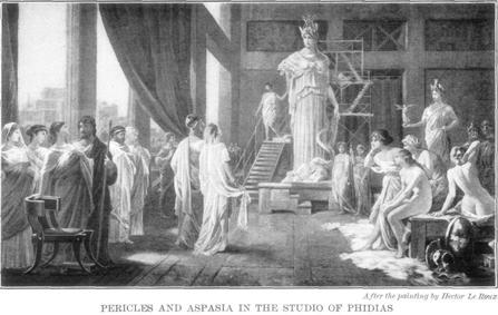 Pericles, Aspasia, Fidias