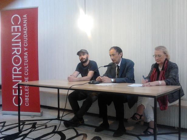 Duelo de poetas en CentroCentro Cibeles de Madrid (España)