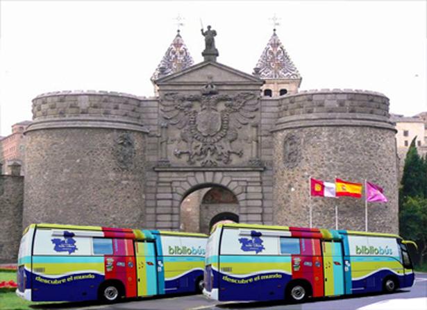 Bibliobuses en la ciudad de Toledo (España)