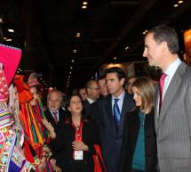 Los Príncipes de Asturias inauguran la XXXIV edición de Fitur, acompañados por el ministro de Industria, Energía y Turismo