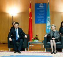El presidente de la República Popular China, Xi Jinping, se ha convertido en el primer jefe de Estado chino en visitar la UNESCO
