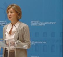 Isabel García Tejerina, ministra de Agricultura, Alimentación y Medio Ambiente de España