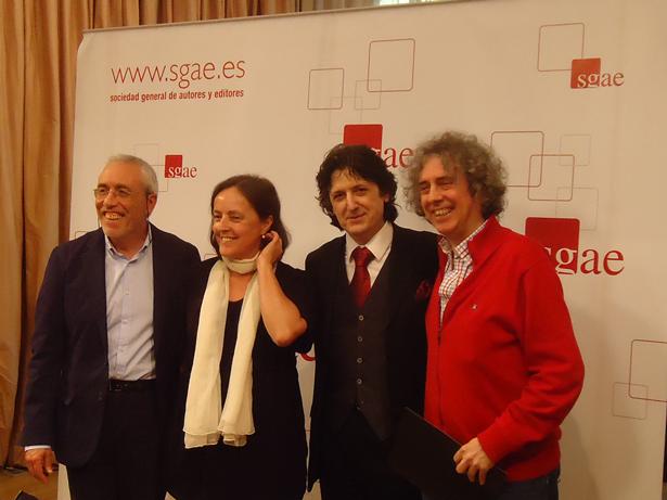 De Izq.a dcha. Enrique Tellez, Elena García de Paredes, Cañizares y José Manuel Gamboa. Foto: © patrimonioactual.com