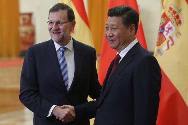 Mariano Rajoy, Presidente del Gobierno de España y el Presidente de la República Popular China, Xi Jinping