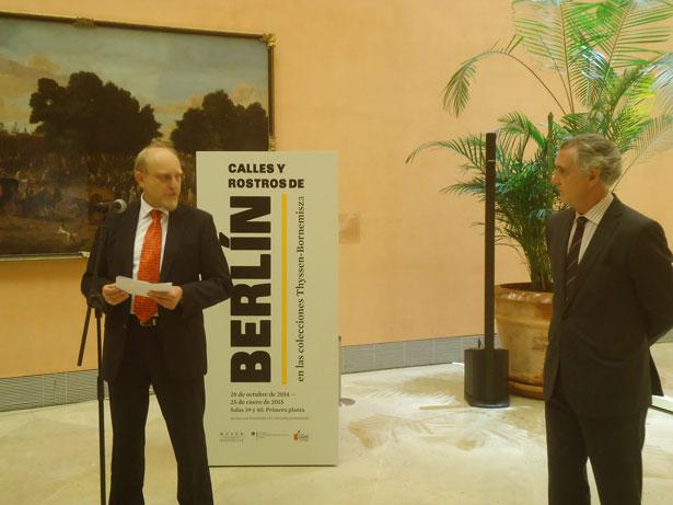 De Izq a dcha: el Ministro de la Embajada de Alemania en España, Dr. Heinrich Kreft, y el director gerente del Museo Thyssen, Evelio Acevedo. Foto: © patrimonioactual.com