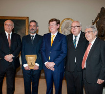 Los arquitectos Cenicacelaya y Saloña recogen el Premio Internacional de Arquitectura Rafael Manzano en la RABASF