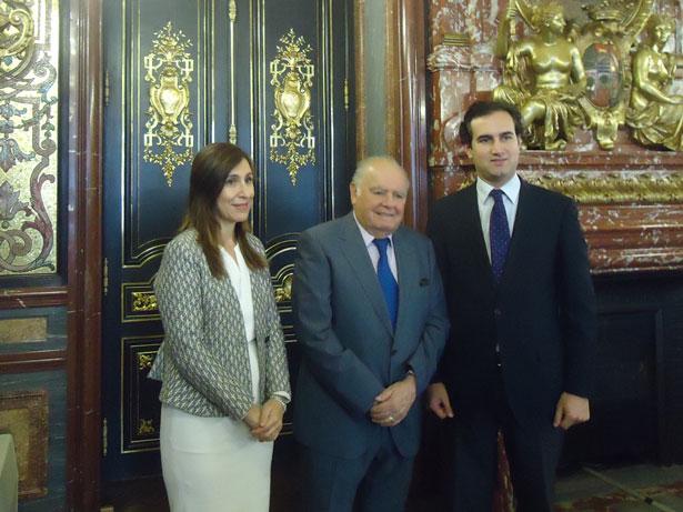 Nuria Vilanova, Enrique V. Iglesias y Tomás Poveda. Foto: © patrimonioactual.com