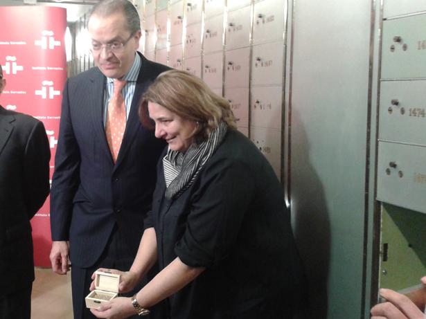 Mariana Garcés, ministra de Cultura de Colombia y Fernando Carrillo, embajador de Colombia en España. Foto: © patrimonioactual.com