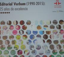Editorial Verbum celebra su XXV aniversario en el Instituto Cervantes