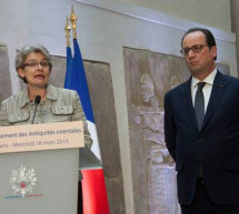La Directora General de la UNESCO y el presidente francés apoyan la protección del patrimonio cultural de Iraq