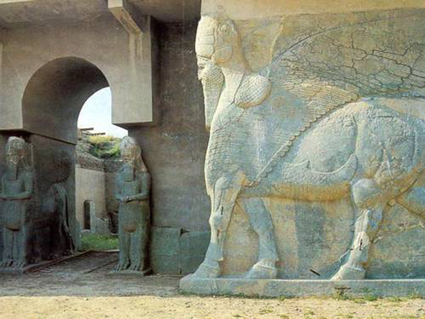 UNESCO. © Creative CommonsNimrud Lamassu's at the North West Palace of Ashurnasirpal, Iraq