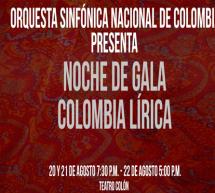 La Orquesta Sinfónica Nacional de Colombia presenta por primera vez un espectáculo en homenaje al talento lírico del país