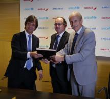 Iberia y Amadeus renuevan su alianza para seguir colaborando con UNICEF en la lucha contra enfermedades mortales