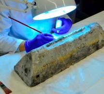 El MAN exhibe desde hoy un lingote de plomo del pecio de Bou Ferrer