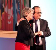 El presidente francés Hollande defiende la unidad de las culturas como arma contra el fanatismo en el Foro de Dirigentes de la UNESCO