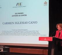Carmen Iglesias recoge el Premio Antonio de Sancha 2015