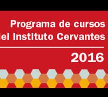 Abierto el programa de Formación de Profesores 2016 del Instituto Cervantes