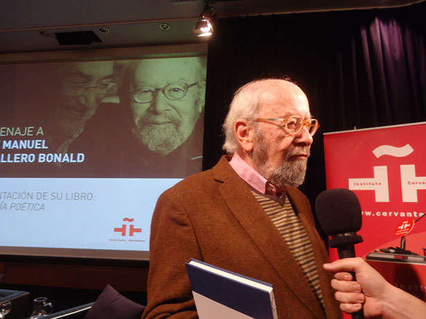 """Caballero Bonald ganador de la V edición del """"Premio Francisco Umbral al Libro del Año"""". Foto: © patrimonioactual.com"""