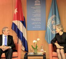 Visita del presidente Raúl Castro a la UNESCO