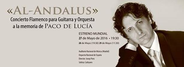 El guitarrista y compositor Cañizares presenta el estreno absoluto de ´Al-Andalus`un réquiem por Paco de Lucia
