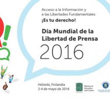 Celebrado el Día Mundial de la libertad de prensa 2016 liderado por la UNESCO