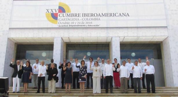 Finaliza la XXV Cumbre Iberoamericana de Jefes de Estado y de Gobierno en Cartagena de Indias