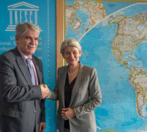 Visita del ministro de Asuntos Exteriores de España Dastis a la UNESCO