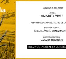 El Teatro de la Zarzuela recupera ´La villana`de Amadeo Vives más de 30 años después de su última representación en este escenario
