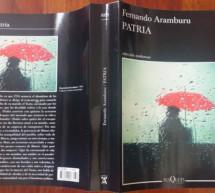 Patria, de Fernando Aramburu,  libro ganador de la VI edición del Premio Francisco Umbral al Libro del Año 2016