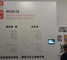 Hecho en Roma. Becas de la Real Academia de España en Roma 2015-2016, en la RABASF en Madrid