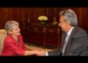 La Directora General de la UNESCO, Irina Bokova, se reunió con el Presidente de la República del Ecuador, Lenin Moreno Garcés en la ciudad de Quito