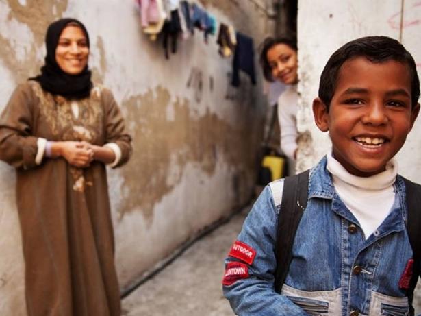 ODS 1. Pobreza. Una familia de Gaza. Foto: UNRWA