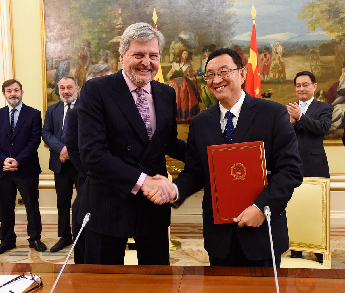 Firma del Programa de Cooperación cultural entre España y China 2018-2021